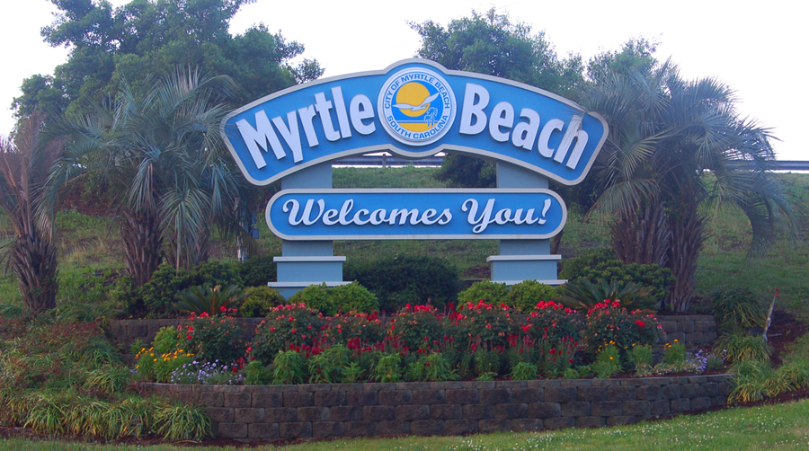 Welcome Sign Myrtle Beach